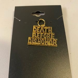💛Death Before Dishonor charm 24k gold over metal